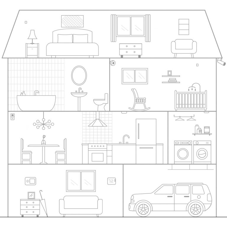 Smart Home Interactive Graphic